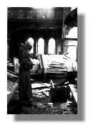 Blick in das Innere der Christuskirche 1942 nach dem Bombardement