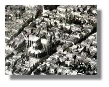 Luftaufnahme von Nordosten, um 1930