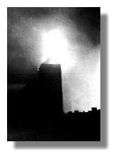 Die brennende Nikolaikirche, 1942
