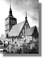 St. Nikolai, noch mit der alten, viel schöneren Turmspitze